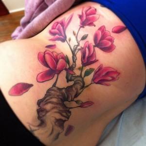 Magnolia Tree Tattoo