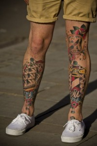 Male Leg Sleeve Tattoos