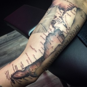 Map Tattoos Sleeve
