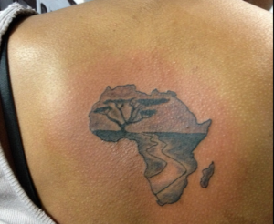 Map of Africa Tattoo