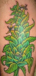 Marijuana Plant Tattoo
