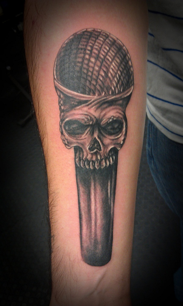Microphone Tattoos Designs, Ideas and Meaning | Tattoos ... | 600 x 1003 jpeg 160kB
