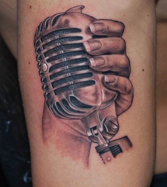 Microphone Tattoos Designs, Ideas and Meaning | Tattoos