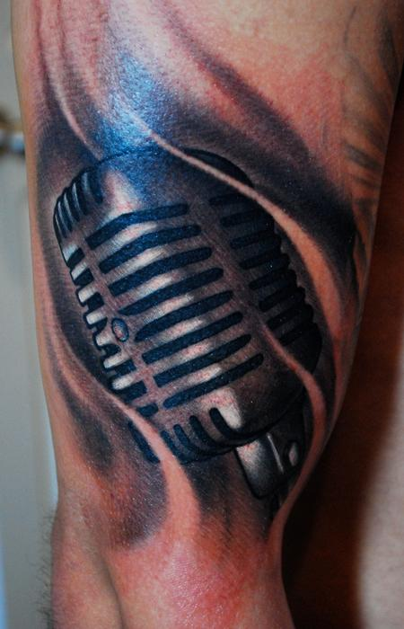 Microphone Tattoos Designs, Ideas and Meaning | Tattoos ... | 450 x 700 jpeg 52kB