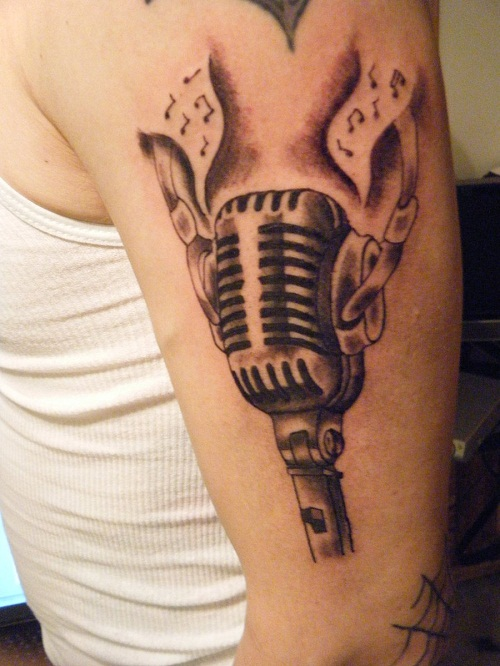 Microphone Tattoos Designs, Ideas and Meaning | Tattoos ... | 500 x 666 jpeg 115kB