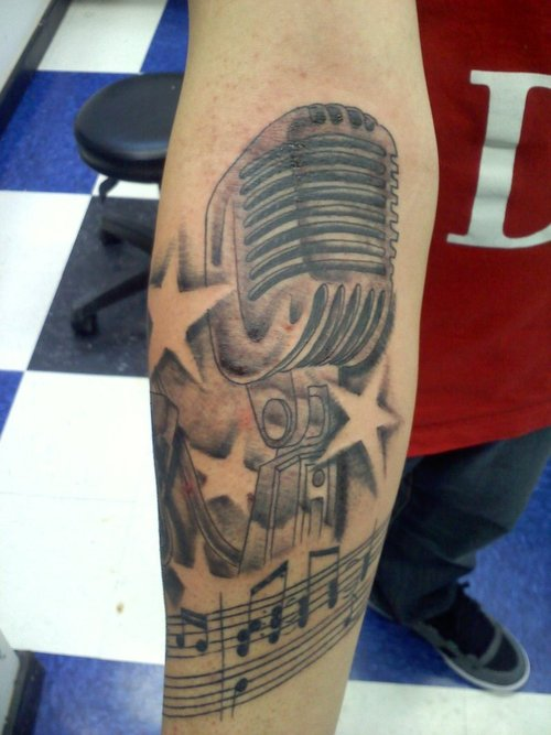 Microphone Tattoos Designs, Ideas and Meaning | Tattoos ... | 500 x 667 jpeg 53kB