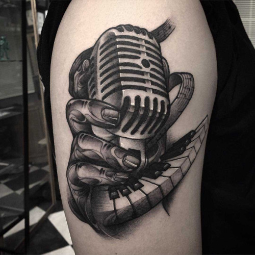 Microphone Tattoos Designs, Ideas and Meaning | Tattoos ... | 500 x 500 jpeg 81kB