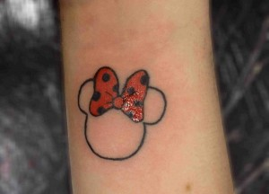Minnie Mouse Bow Tattoos