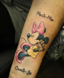 Minnie Mouse Tattoos on Wrist