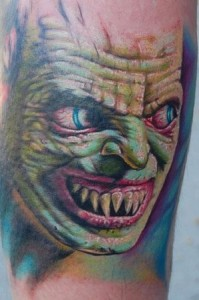 Monster Face Tattoo