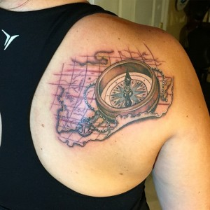 Nautical Map Tattoos