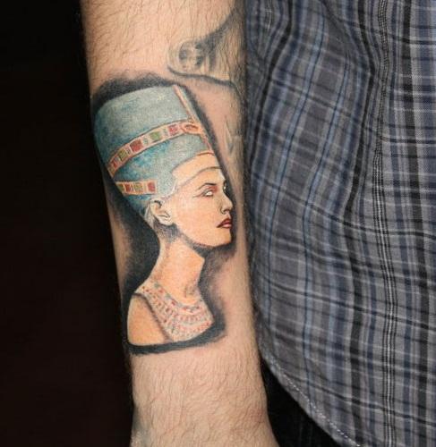 Tupac Nefertiti Tattoo