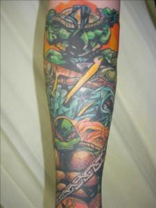 Ninja Turtle Tattoo Sleeve