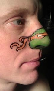Ninja Turtle Tattoo on Nose