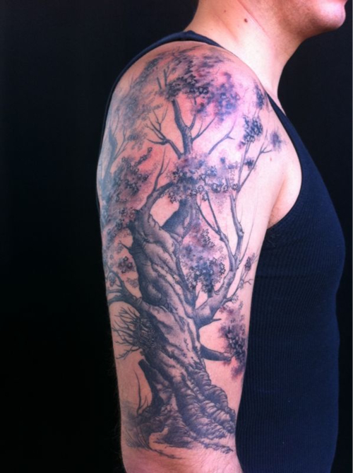 Oak tree tattoos designs ideas and meaning tattoos for you for Tree tattoo on forearm