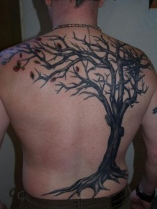 Oak Tree Tattoo Back