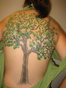 Oak Tree Tattoo Color