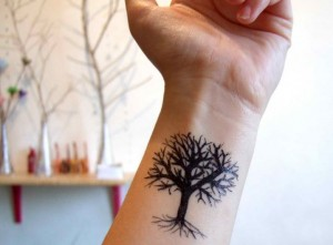 Oak Tree Tattoo Forearm