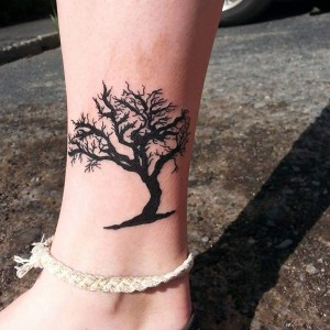 Oak Tree Tattoo Leg