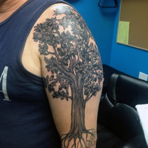 Oak Tree Tattoo Shoulder