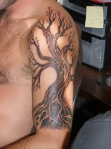 Oak Tree Tattoo Sleeve