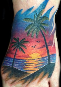 Ocean Sunset Tattoo