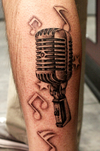 Microphone Tattoos Designs, Ideas and Meaning | Tattoos ... | 399 x 600 jpeg 83kB