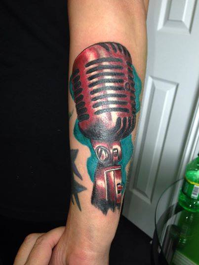 Microphone Tattoos Designs, Ideas and Meaning | Tattoos ... | 403 x 537 jpeg 24kB