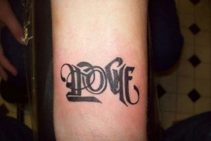 One Word Tattoos on Hand