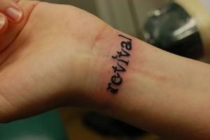One Word Wrist Tattoos