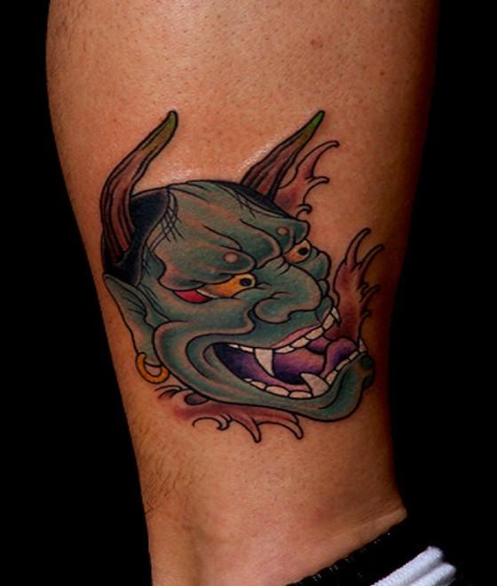 Oni Mask Tattoos Designs, Ideas And Meaning