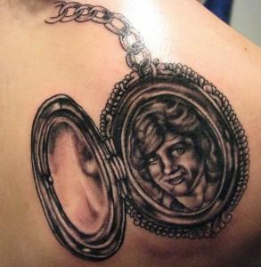 Open Locket Tattoo