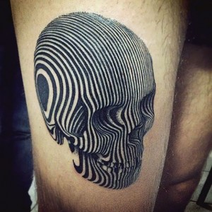 Optical Illusion Skull Tattoos