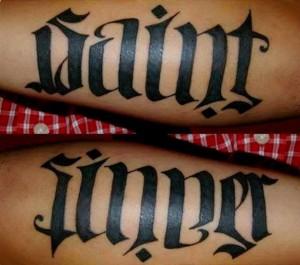 Optical Illusion Tattoos Words