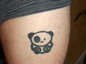 Panda Tattoo on Thigh