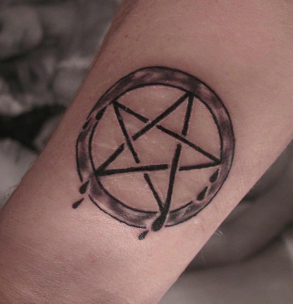 pentagram tattoos designs ideas and meaning tattoos for you. Black Bedroom Furniture Sets. Home Design Ideas