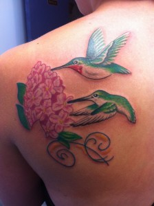 Pink Hydrangea Tattoo