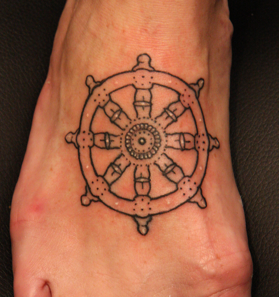 Ship Wheel Tattoos Designs Ideas And Meaning Tattoos For You