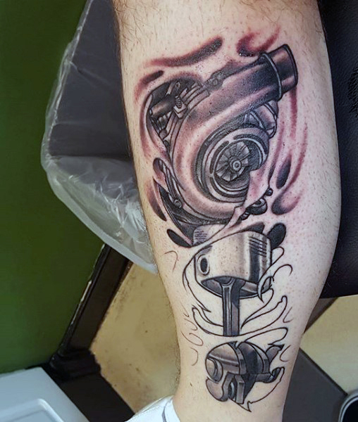Piston Tattoos Designs, Ideas And Meaning