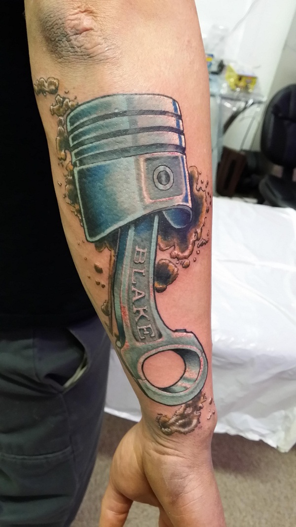 Piston Tattoos Designs, Ideas and Meaning   Tattoos For You
