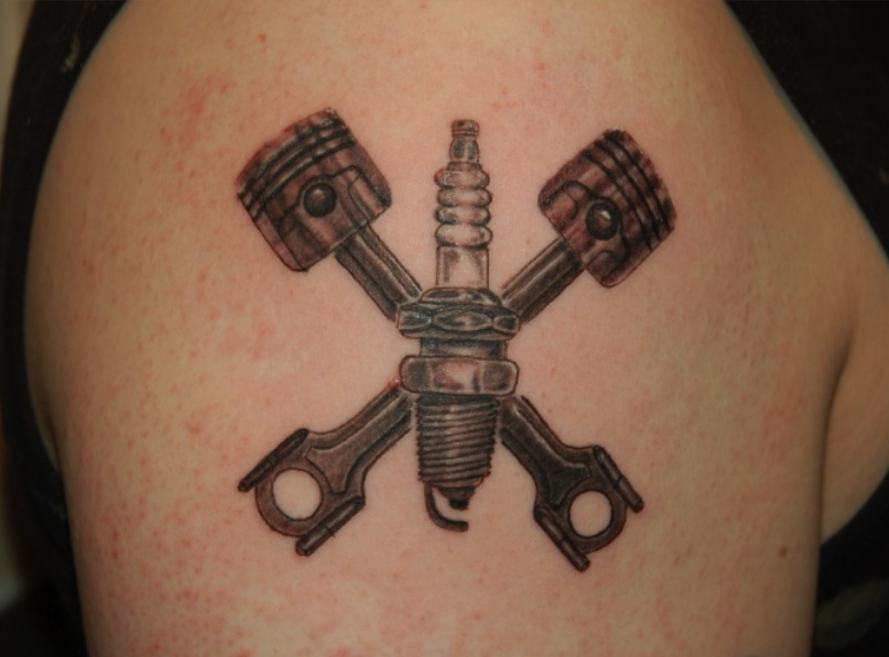 Small Engine Tattoo: Piston Tattoos Designs, Ideas And Meaning