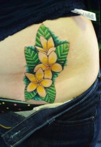 Plumeria Tattoo on Hip