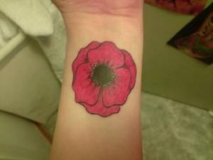 Poppy Tattoo on Wrist