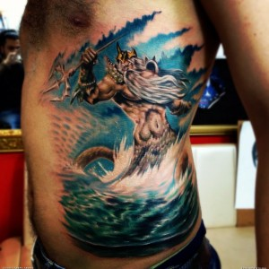 Poseidon Tattoo Tribal