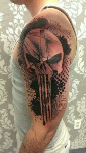 Punisher Sleeve Tattoo