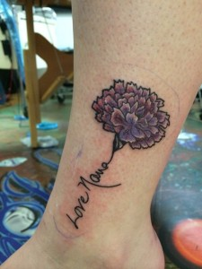 Purple Carnation Tattoo