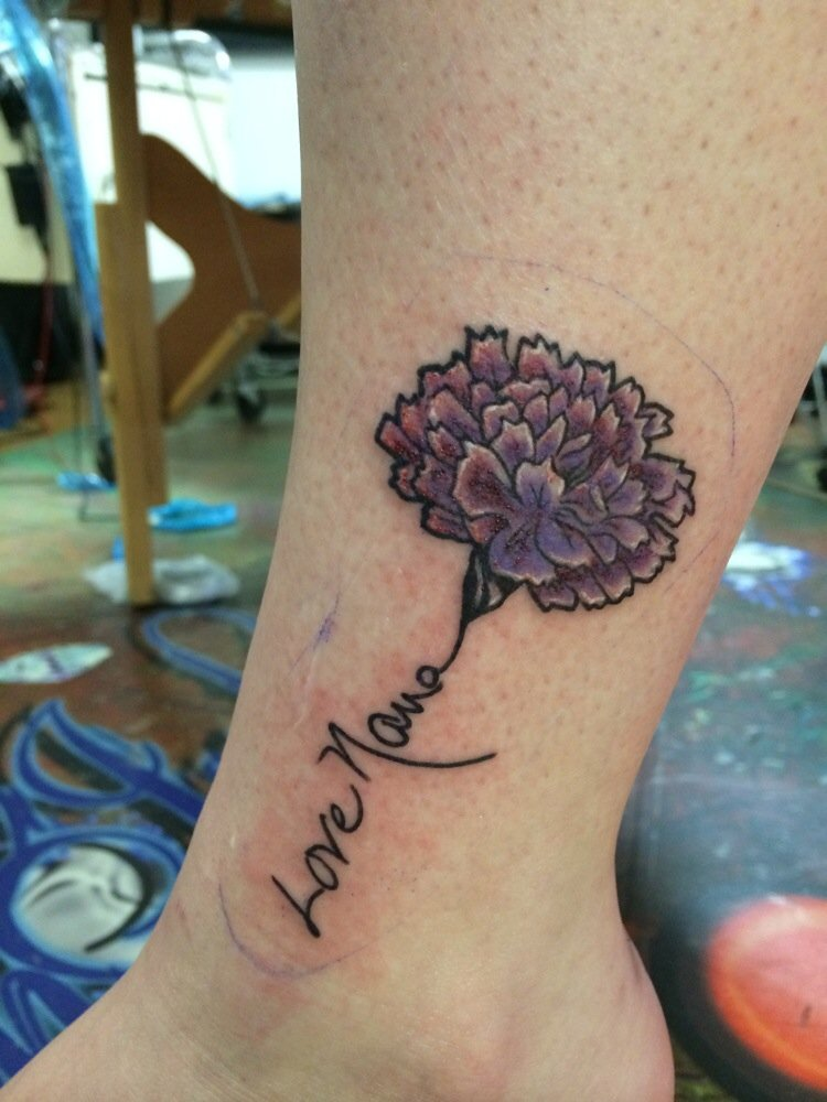Blue Flower Tattoo Designs: Carnation Tattoos Designs, Ideas And Meaning