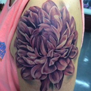 Purple Dahlia Tattoo