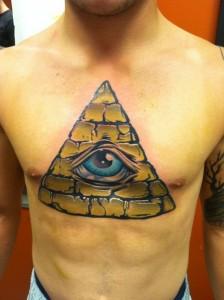 Pyramid Chest Tattoo