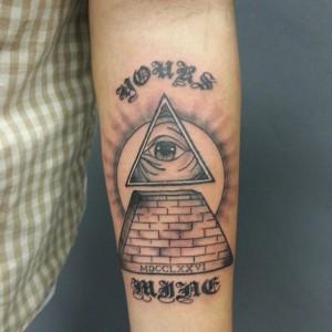 Pyramid Eye Tattoo